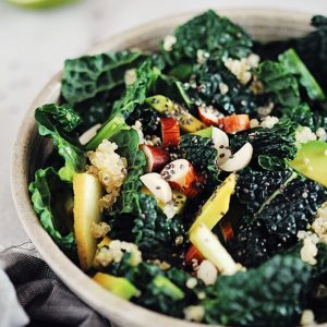Detoxifying Kale, Apple and Quinoa Salad
