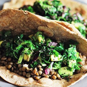 Lentil and Parsley Salad Tacos