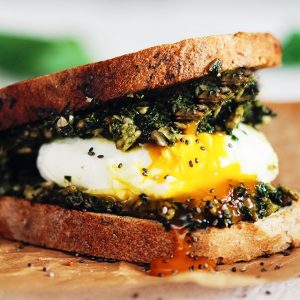 Green Egg Sandwich with Fresh Spring Pesto