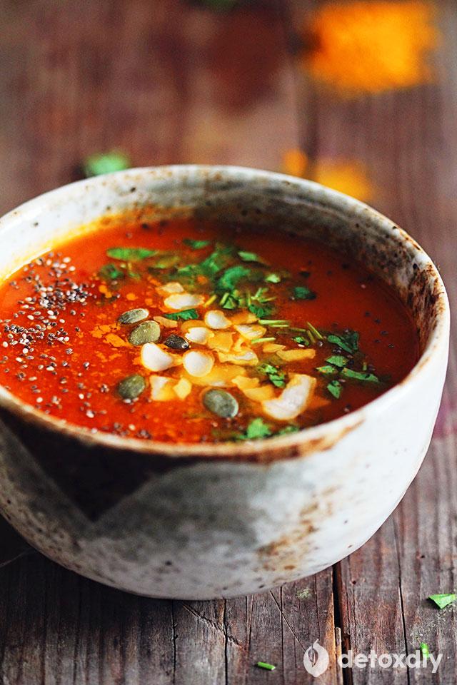 Turmeric Tomato Detox Soup