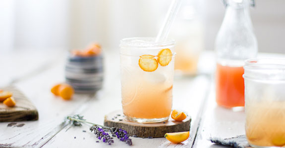 Lavender Kumquat Shrub