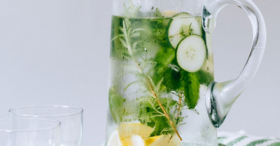 Cucumber Herb Infused Water