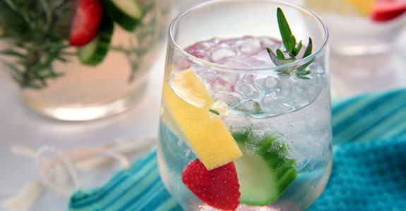 Strawberry-Cucumber Infused Water