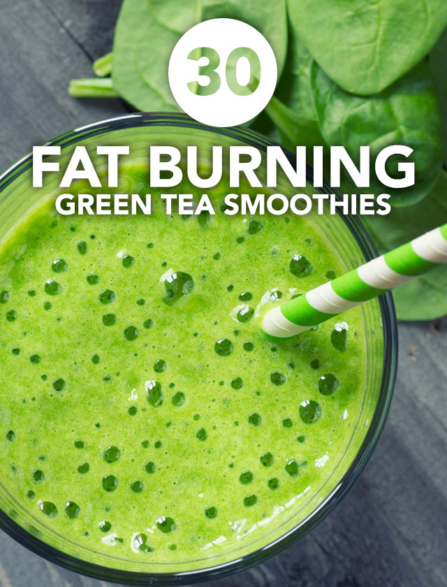 This is an awesome list of green tea smoothies! Drinking one of these every day will help you lose weight, cleanse your body and boost your energy.