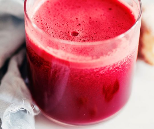 The bright color of our beet, apple, and ginger detox juice is a tip-off to all of the nutrients it contains, with a taste that is so good it's surprising.