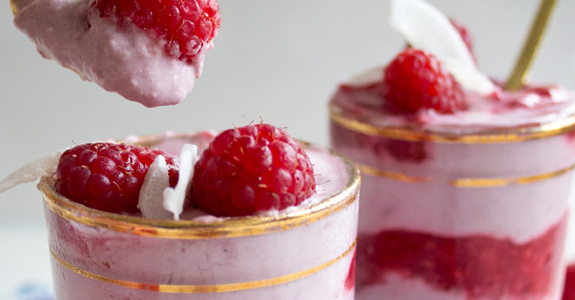 Raspberry Coconut Fool