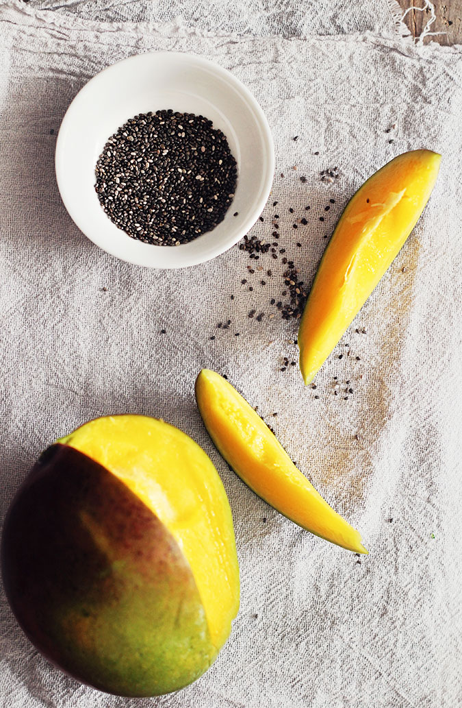 chia seeds and mango