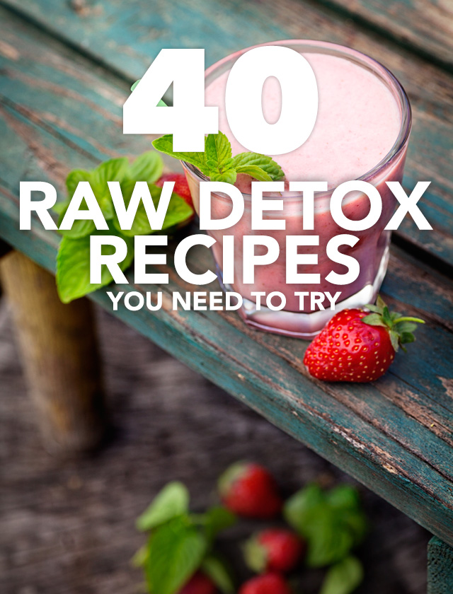 This is such a great collection of raw detox recipes! Everything from salads to drinks to complete meals. Make sure to check these recipes out :)