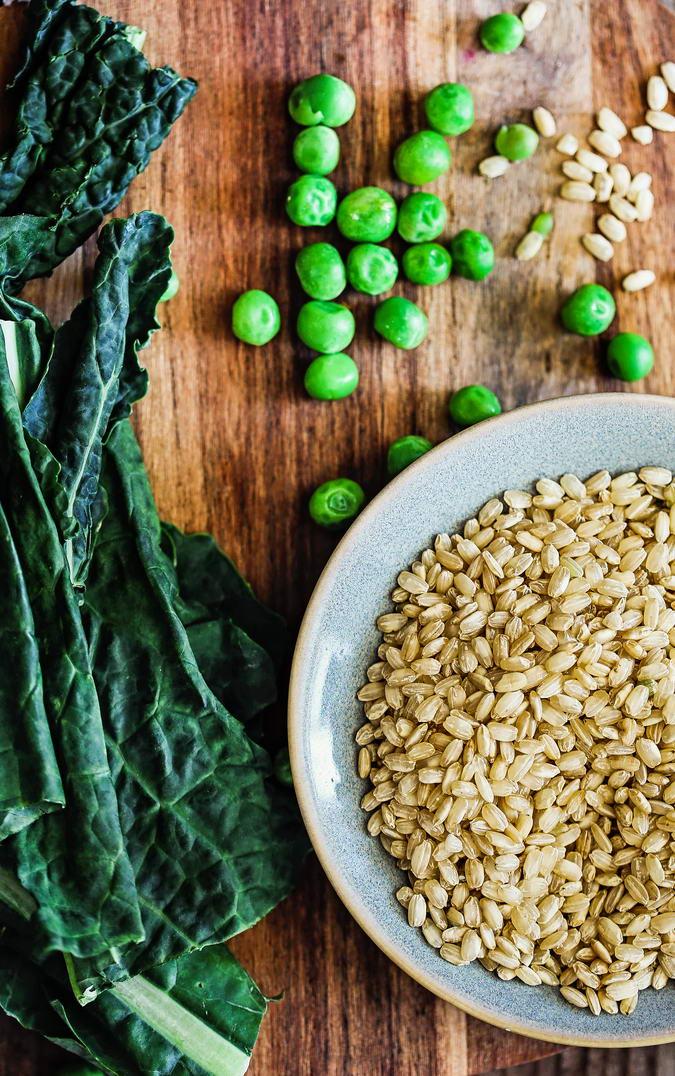 Brown Rice Kale Green Pea Ingredients