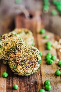 Brown Rice, Kale and Green Pea Patties