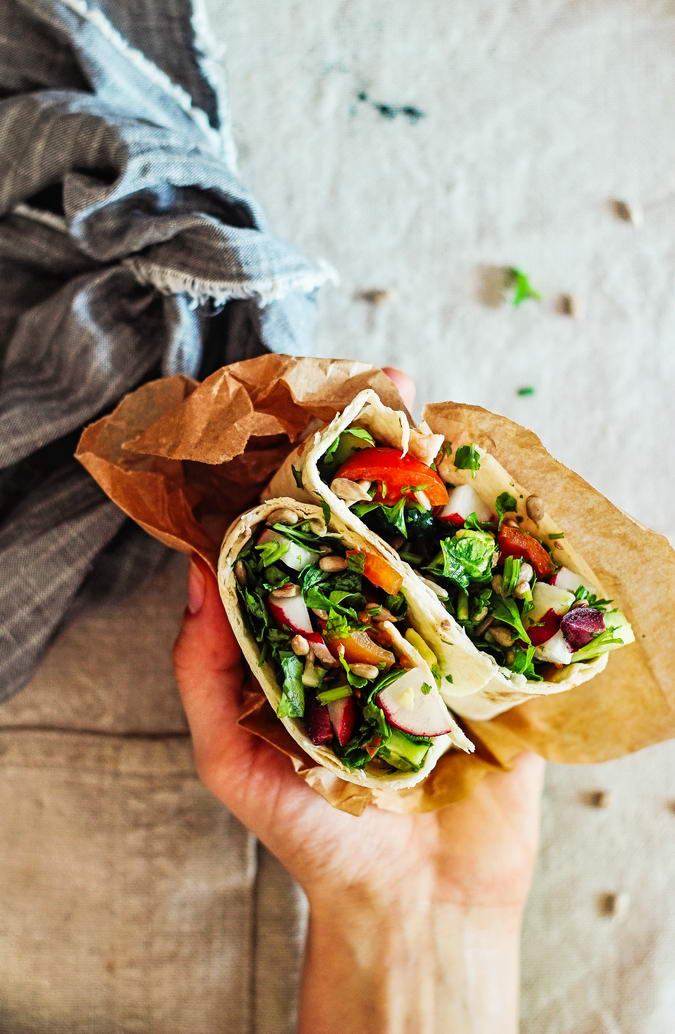 Parsley Wrap In Hand