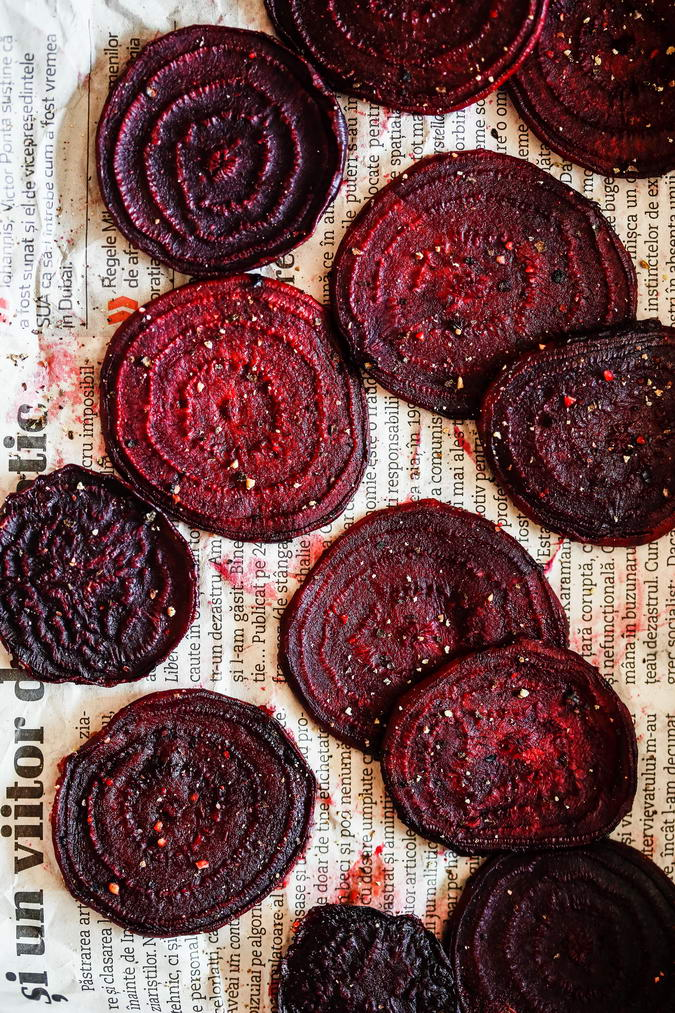 Sliced Bakes Beet Chips