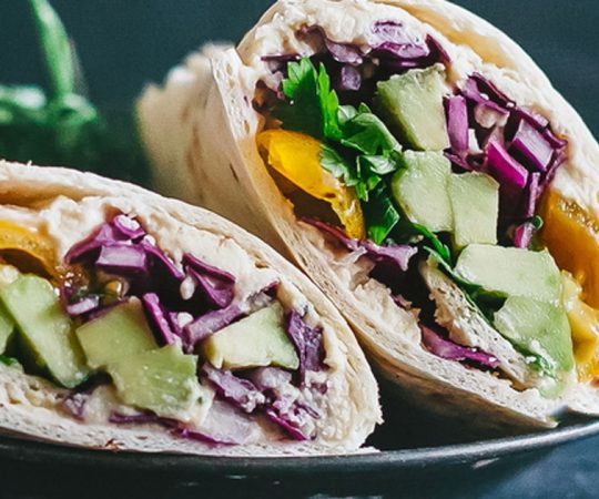 Rainbow Vegetable Wrap