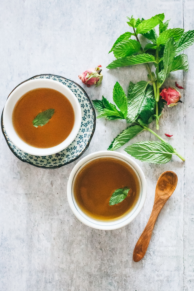 Stress Relief Rosebud And Mint Tea Detox Diy