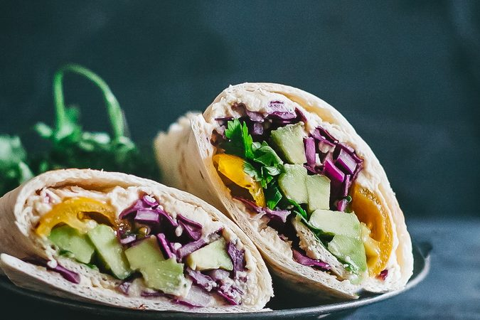 This nutrient packed rainbow wrap is the most cheerful way to enjoy your lunch!