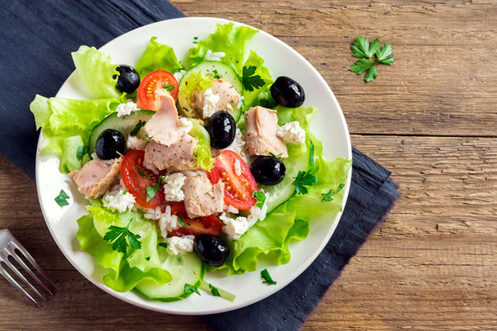 Tuna Salad Who Said Tuna Only Goes Well With Mayonnaise This Recipe Is A Must Have In Your Weight Loss Diet Plan
