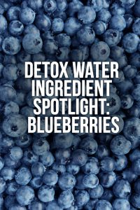Detox Water Ingredient Spotlight – Blueberries (with Recipes)