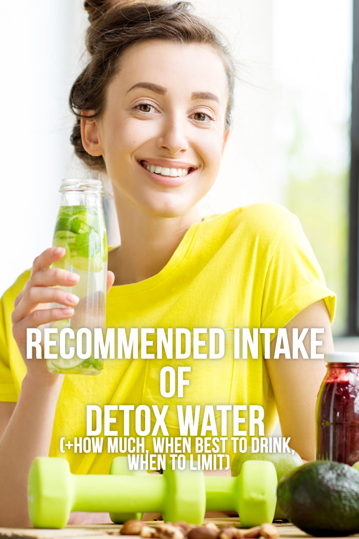 how much detox water to drink daily