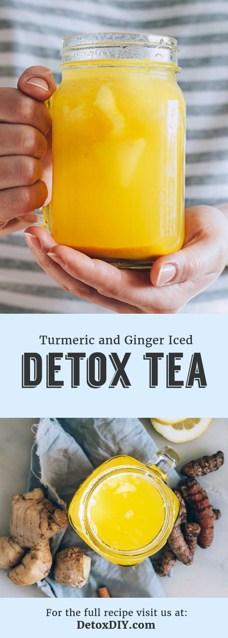 This iced turmeric and ginger detox tea is not only my favorite iced detox tea, but my favorite iced tea to drink in general! So refreshing and cleansing. Love this recipe.