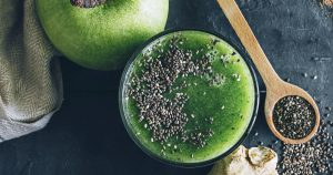 Green Apple and Chia Seed Colon Detox Smoothie