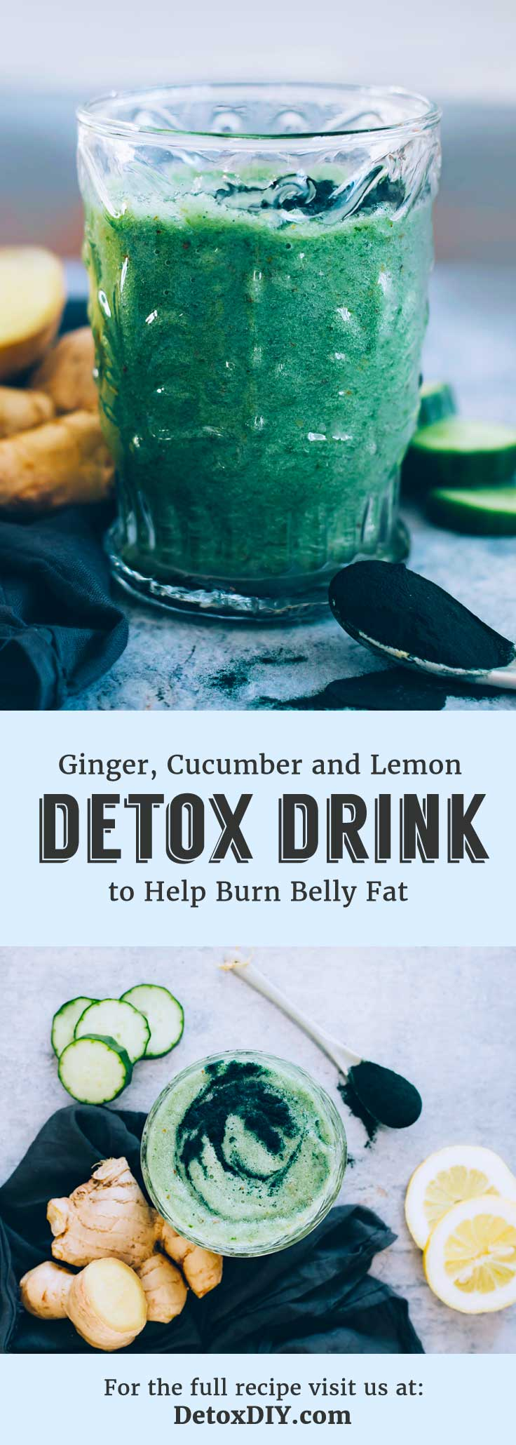 My favorite lemon and cucumber detox drink!