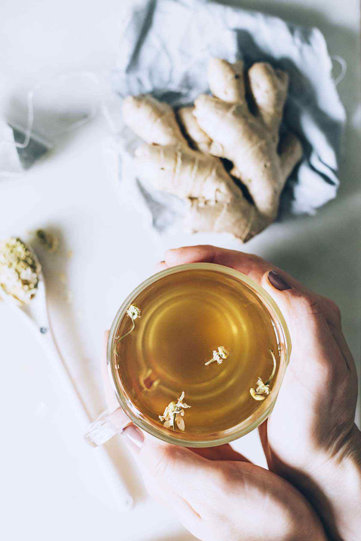 soothing ginger root tea