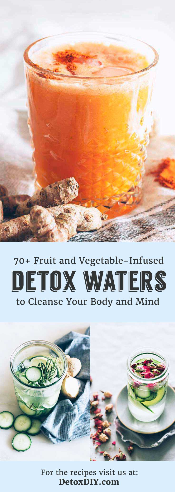 These are the best detox water recipes! Just cut ingredients and let infuse overnight for a refreshing, hydrating, cleansing drink.