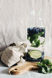 Refreshing and Energizing Blueberry Lime Basil Detox Water