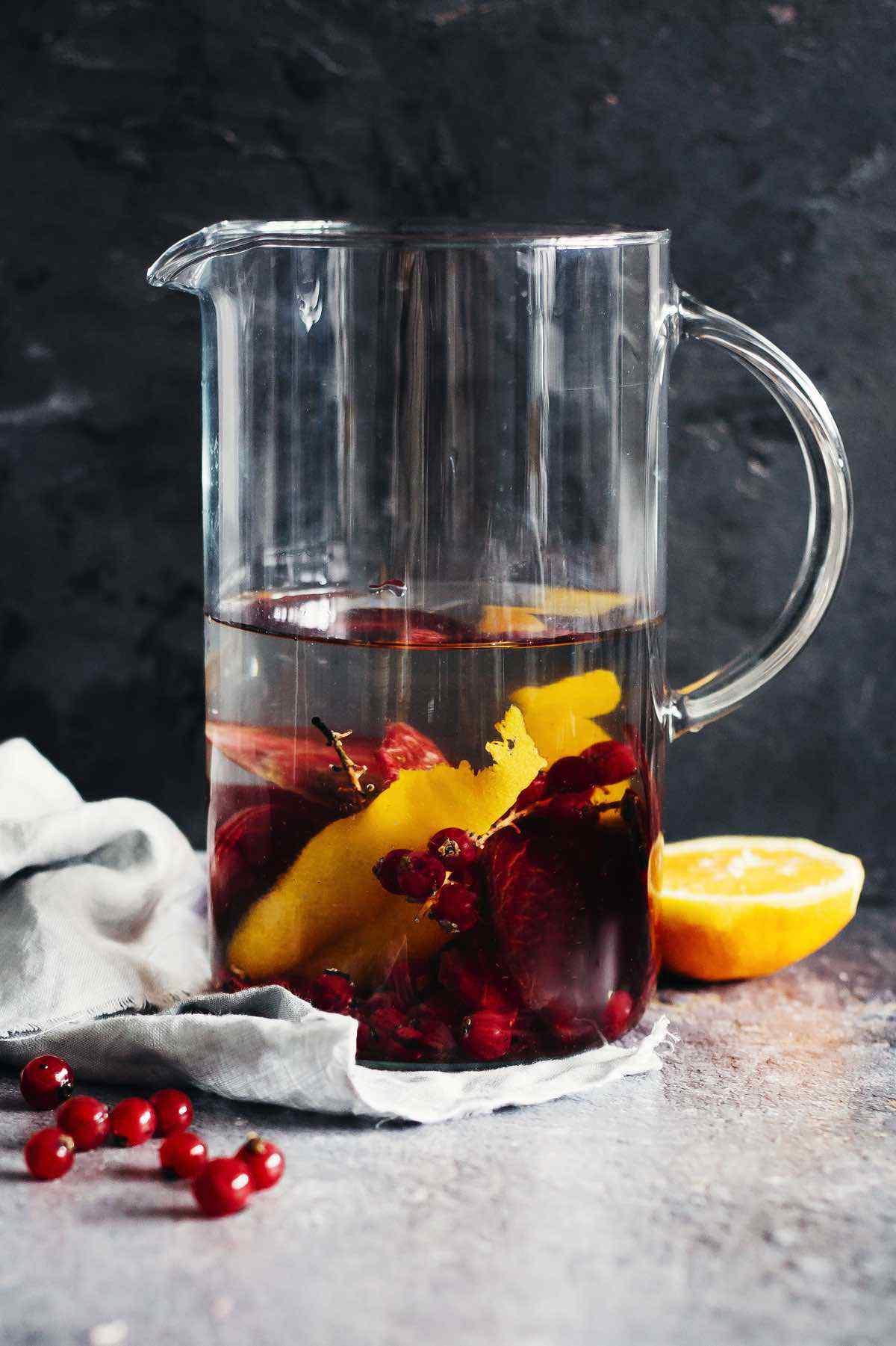 Cranberry Orange Zest Beet Detox Water