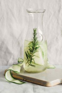 Cucumber Green Apple Rosemary Detox Water for Workouts
