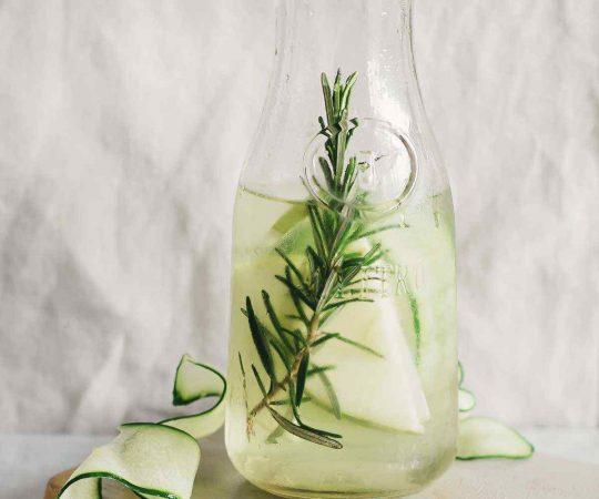 Cucumber Green Apple Rosemary Detox Water