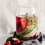 Cucumber Strawberry Thyme Detox Water