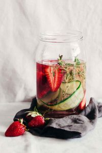 Anti-Inflammatory Cucumber Strawberry Fruit Infused Water