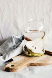 Ginger Pear Cinnamon Detox Water for Healthy Digestion