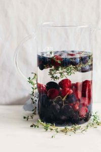 Blueberry Grape Raspberry Fruit Infused Water