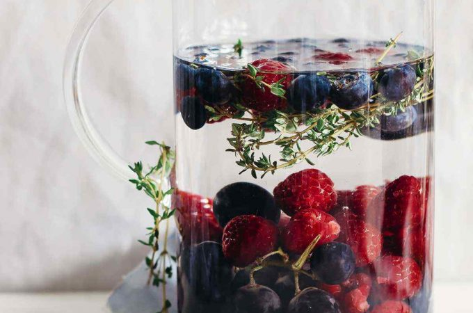 Grape Blueberry Raspberry Thyme Water Recipe