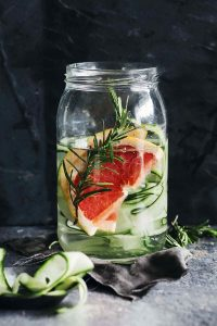 Superfood Pink Grapefruit Cucumber Water