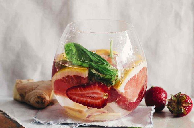 Grapefruit Strawberry Ginger Basil Detox Water