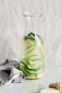 Green Apple Ginger Cucumber Parsley Detox Water