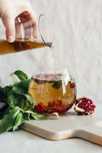 Green Tea Pomegranate Mint Detox Water