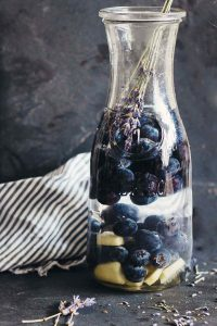 Hydrating Blueberry Lavender Ginger Infused Water