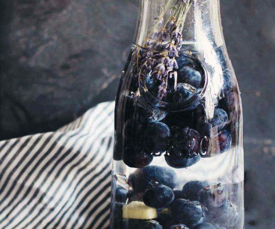 Lavender Blueberry Ginger Detox Water