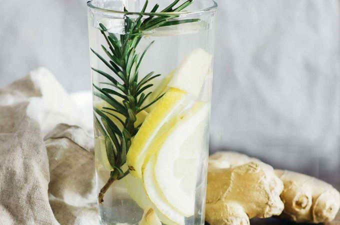 Lemon Ginger Rosemary Detox Water