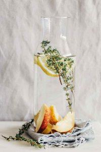 Lemon Peach Mango Thyme Detox Water
