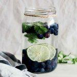 Lime Blueberry Cilantro Detox Water