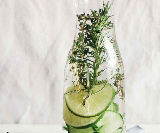Lime Cucumber Herbs Detox Water