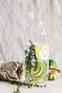 Lime Lemon Ginger Thyme Detox Water