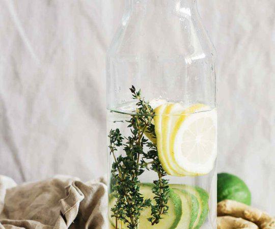 Lime Lemon Ginger Thyme Detox Water