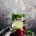 Lime Raspberry Basil Fruit Infused Water