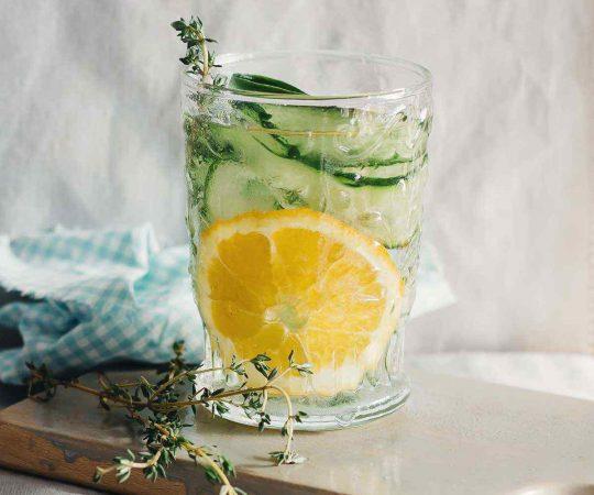 Orange Cucumber Thyme Detox Water